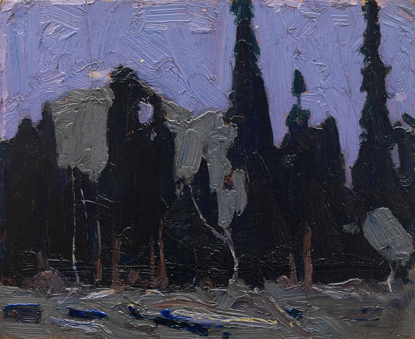 Tom Thomson, Nocturne: Forest Spires, 1916