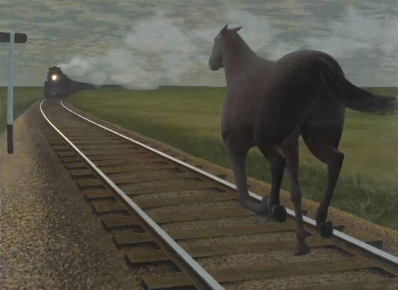 Horse and Train