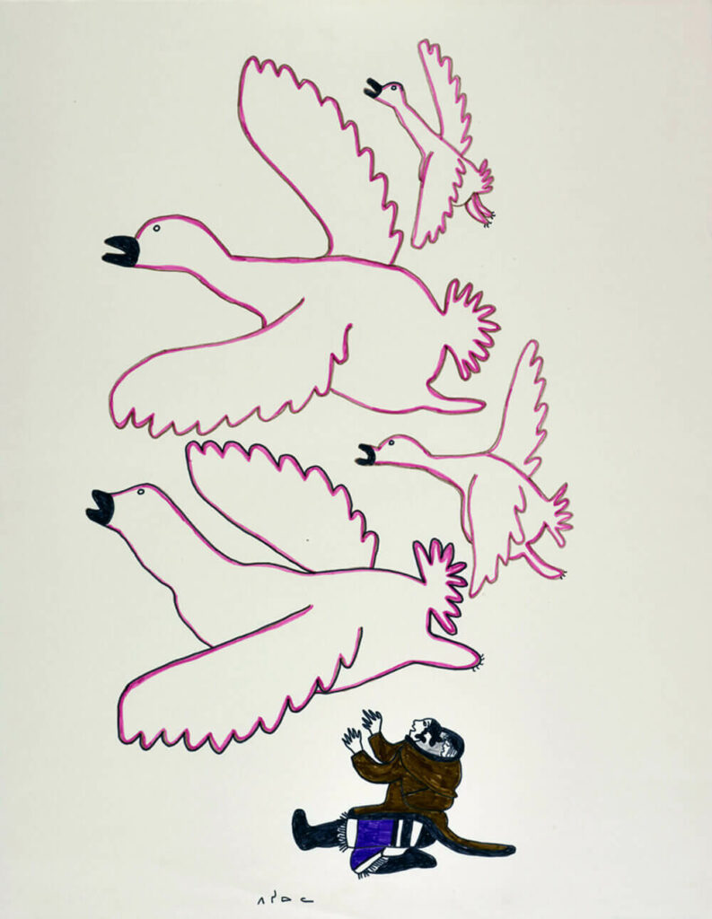Untitled (Birds Flying Overhead)