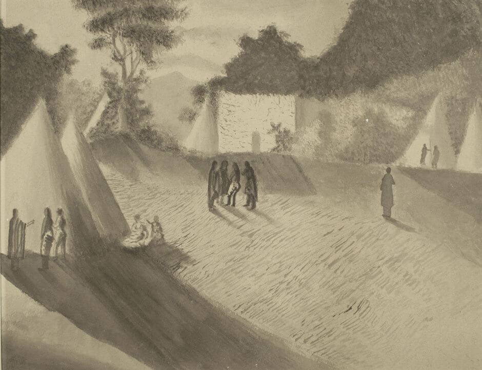 Camp Site (Man with Long Coat)