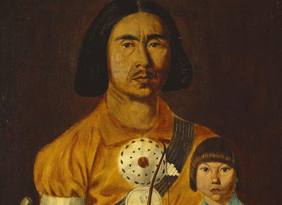 Zacharie Vincent et son fils Cyprie