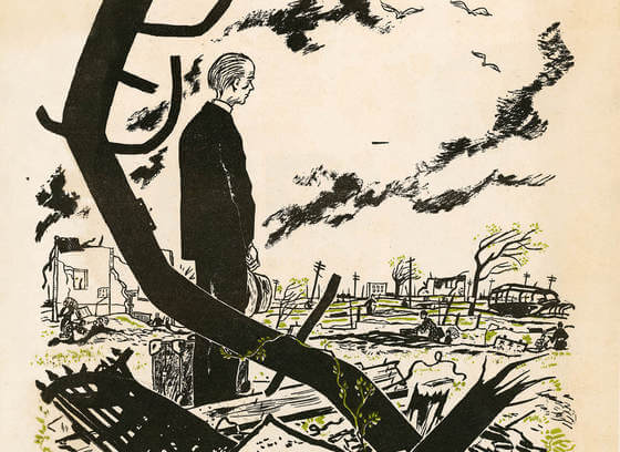 "Cover illustration for ""Hiroshima"" by John Hersey"