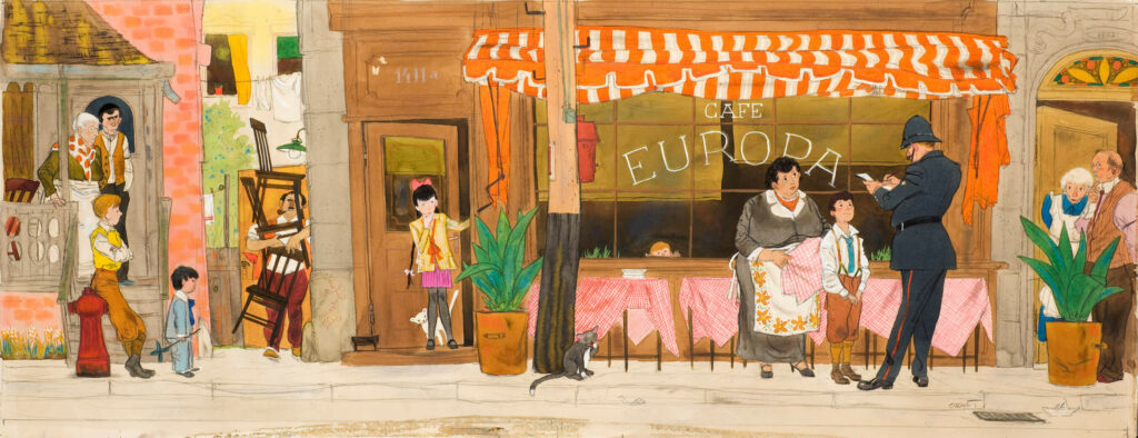 "Illustration for ""The First (and Last) Ottawa Street Café"" by Ben Lappin"
