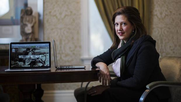 <p>Sarah Angel plans for the Art Canada Institute to publish at least 12 online books on individual artists by 2015. Photo credit: Michelle Siu/The Globe and Mail.</p>