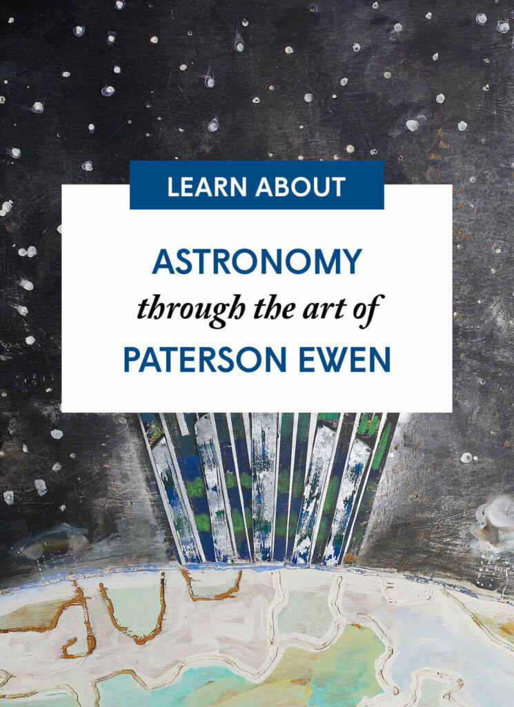 Astronomy through the art of Paterson Ewen