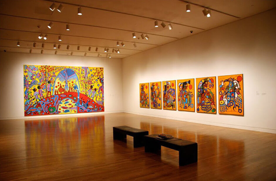 Art Canada Institute, Installation of Morrisseau's Androgyny, 1983