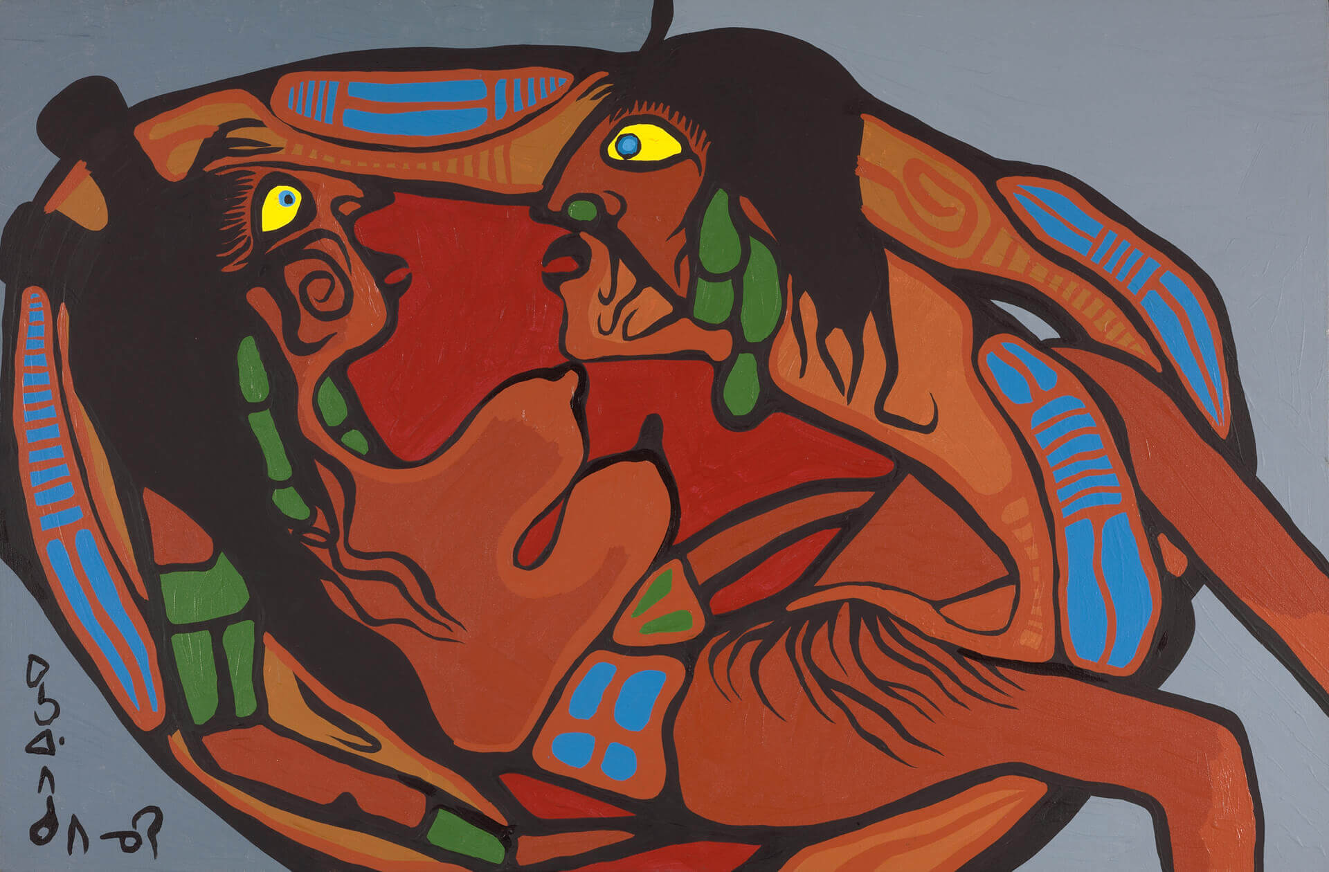 Norval Morrisseau, Artist in Union with Mother Earth, 1972