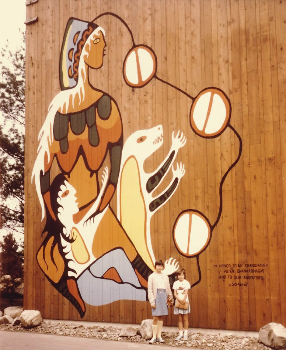 Art Institute Canada, Norval Morrisseau's mural for the Indians of Canada Pavilion at Expo 67