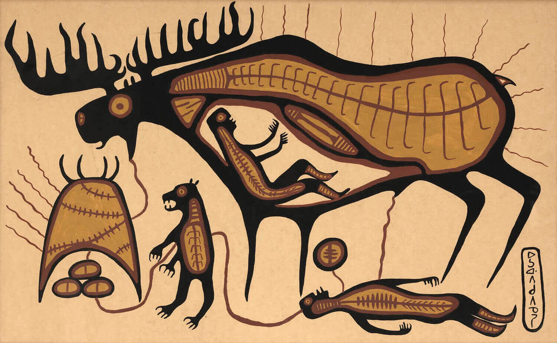 Art Institute Canada, Norval Morrisseau, Jo-Go Way Moose Dream, c. 1964