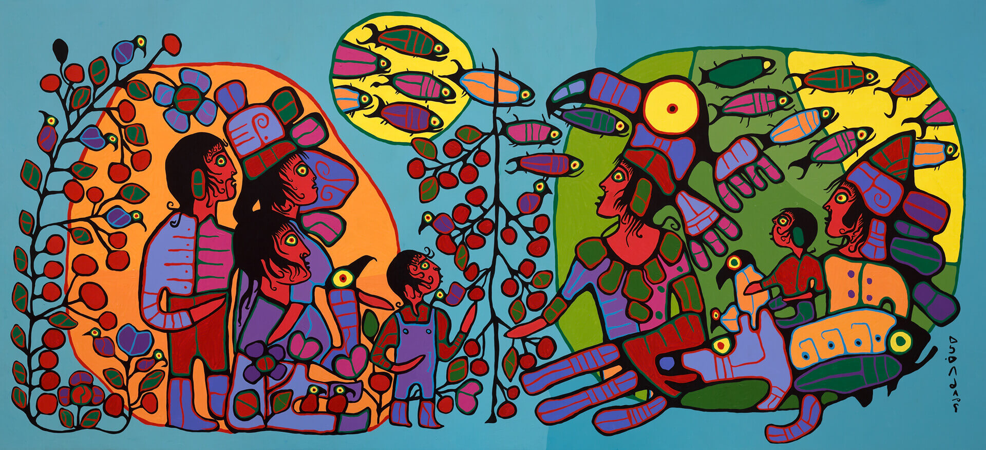 Norval Morrisseau, Observations of the Astral World, c.1994