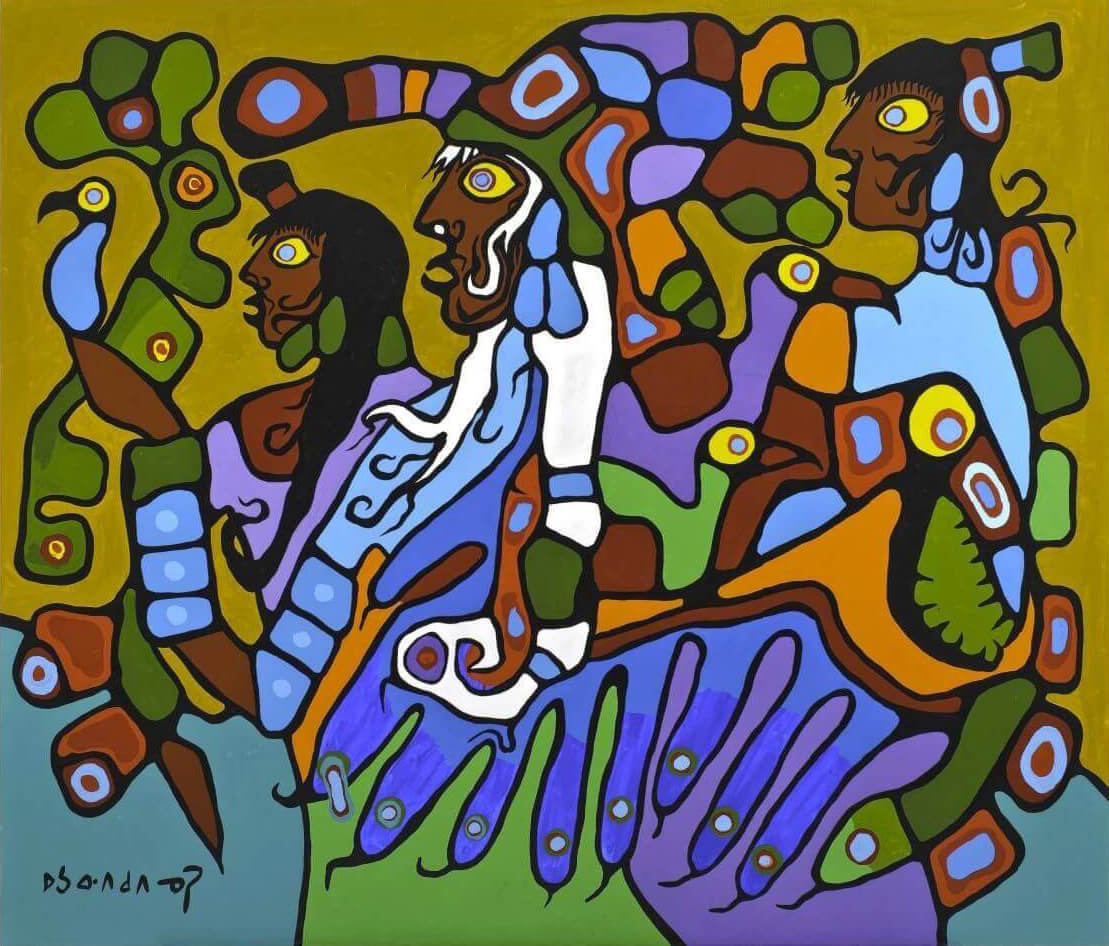 Art Canada Institute,  Norval Morrisseau, Shaman and Disciples, 1979