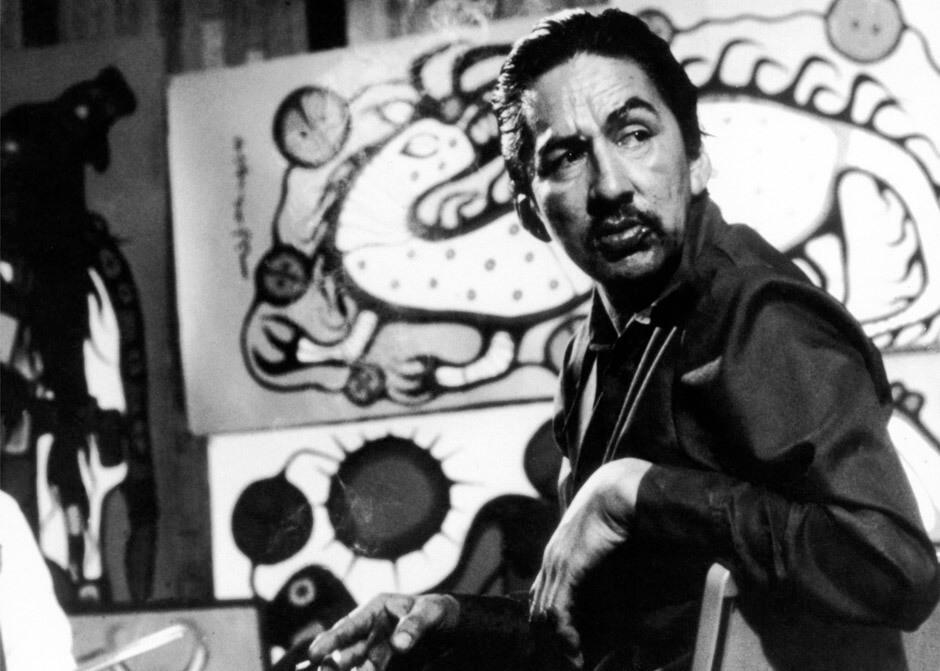 Art Canada Institute, Still image of Norval Morrisseau from The Paradox of Norval Morrisseau