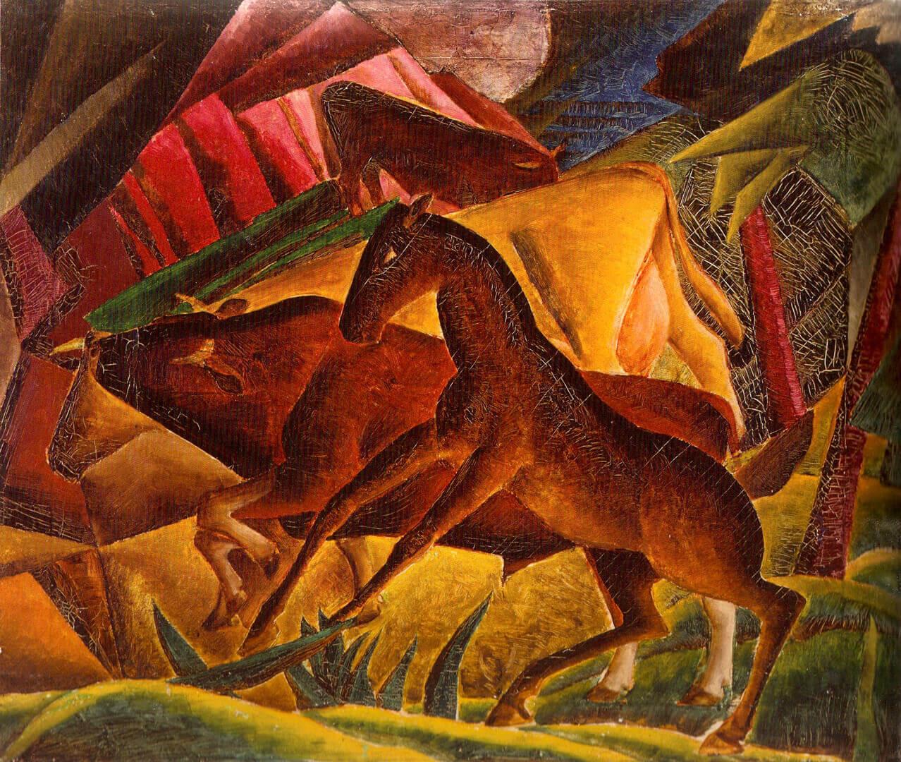 Kathleen Munn, Composition (Horses), c. 1927