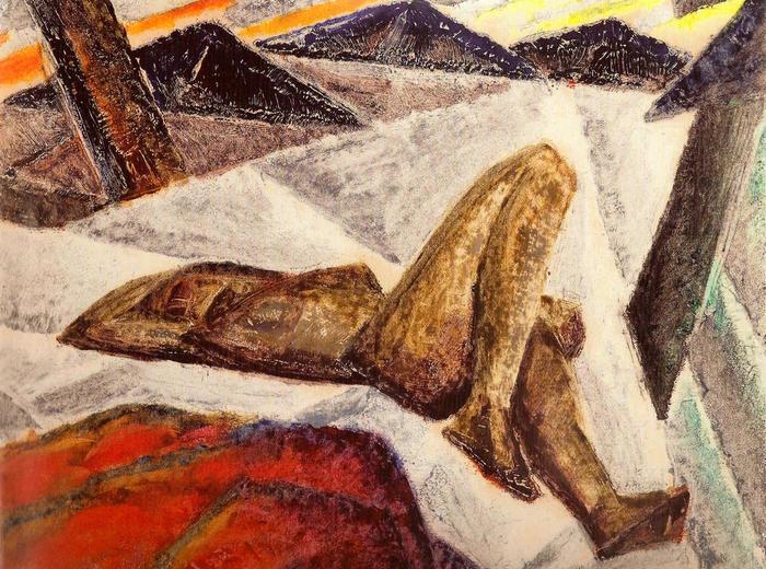 Kathleen Munn, Composition (Reclining Nude), c.1926–28