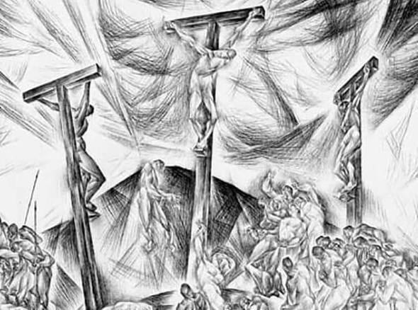 Kathleen Munn, The Crucifixion (Passion Series), c. 1934–35