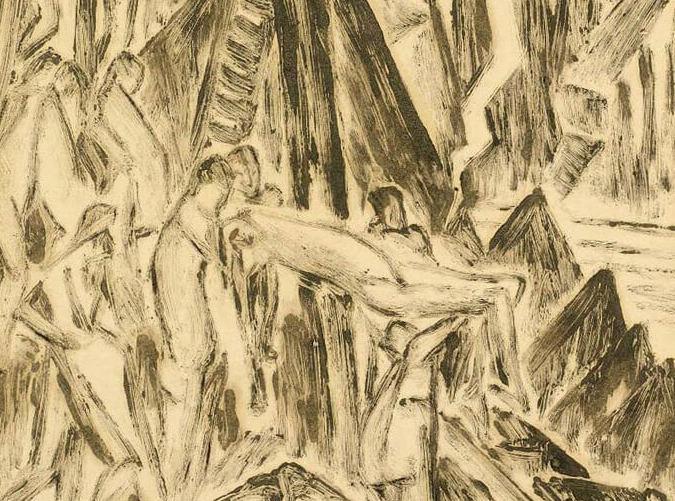 Kathleen Munn, Untitled (Descent from the Cross), c. 1927