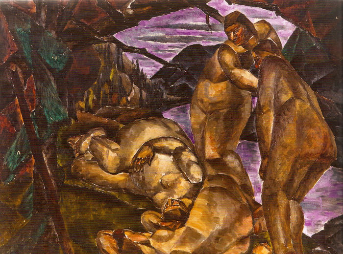 Kathleen Munn, Untitled (Four Figures in the Woods), c. 1928–30