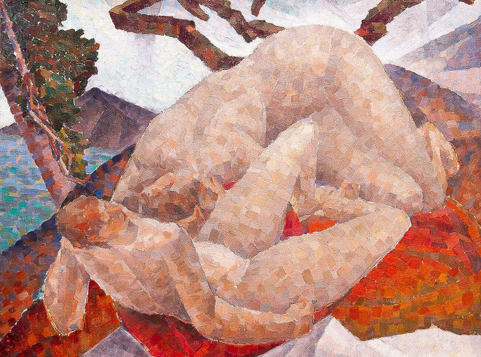 Kathleen Munn, Untitled (Two Nudes in a Landscape), c. 1928–30