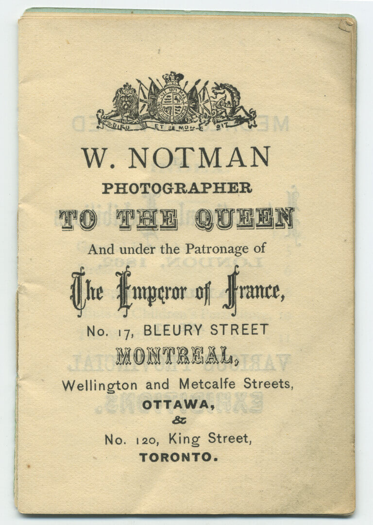 Art Canada Institute, William Notman, Photography: Things You Ought to Know, after 1867