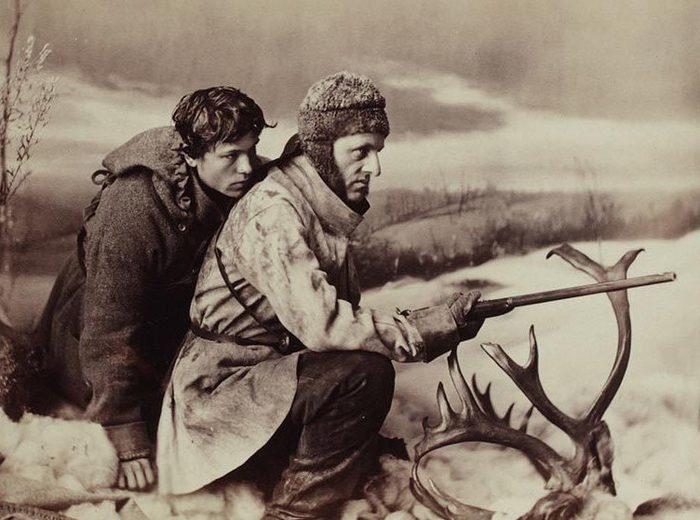 William Notman, La chasse au caribou, le coup de chance, Montréal, 1866