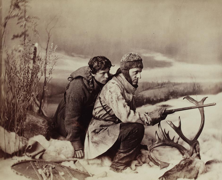 William Notman, Caribou Hunting, The Chance Shot, Montreal, 1866