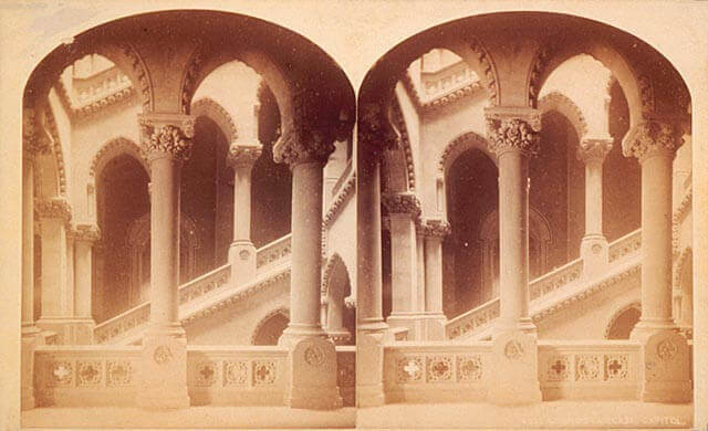 Art Canada Institute, William Notman, Grand Staircase and Capital, Windsor Hotel, Montreal, c. 1878–91