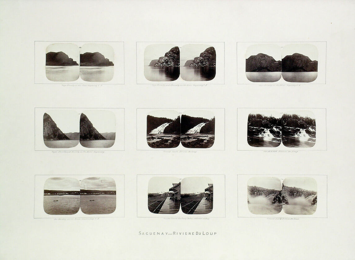 Art Canada Institute, William Notman, Group of stereographs from the maple box, Saguenay and Rivière-du-Loup, Quebec, 1859–60