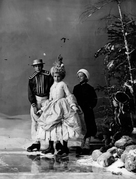 Art Canada Institute, William Notman, Lovell's Group of Children Skating in Costume, 1867