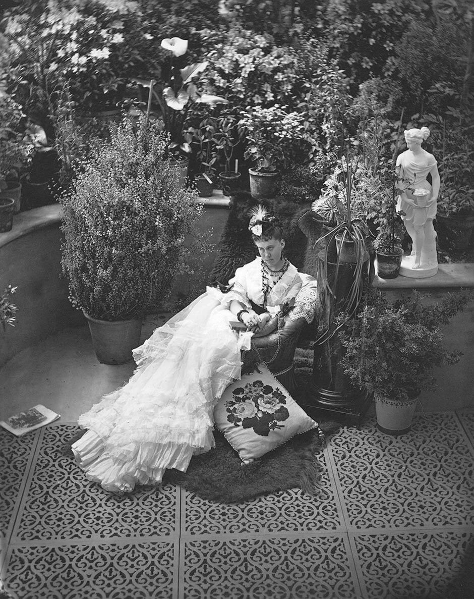 William Notman, Mrs. William MacKenzie in Allan's Conservatory, Montreal, 1871