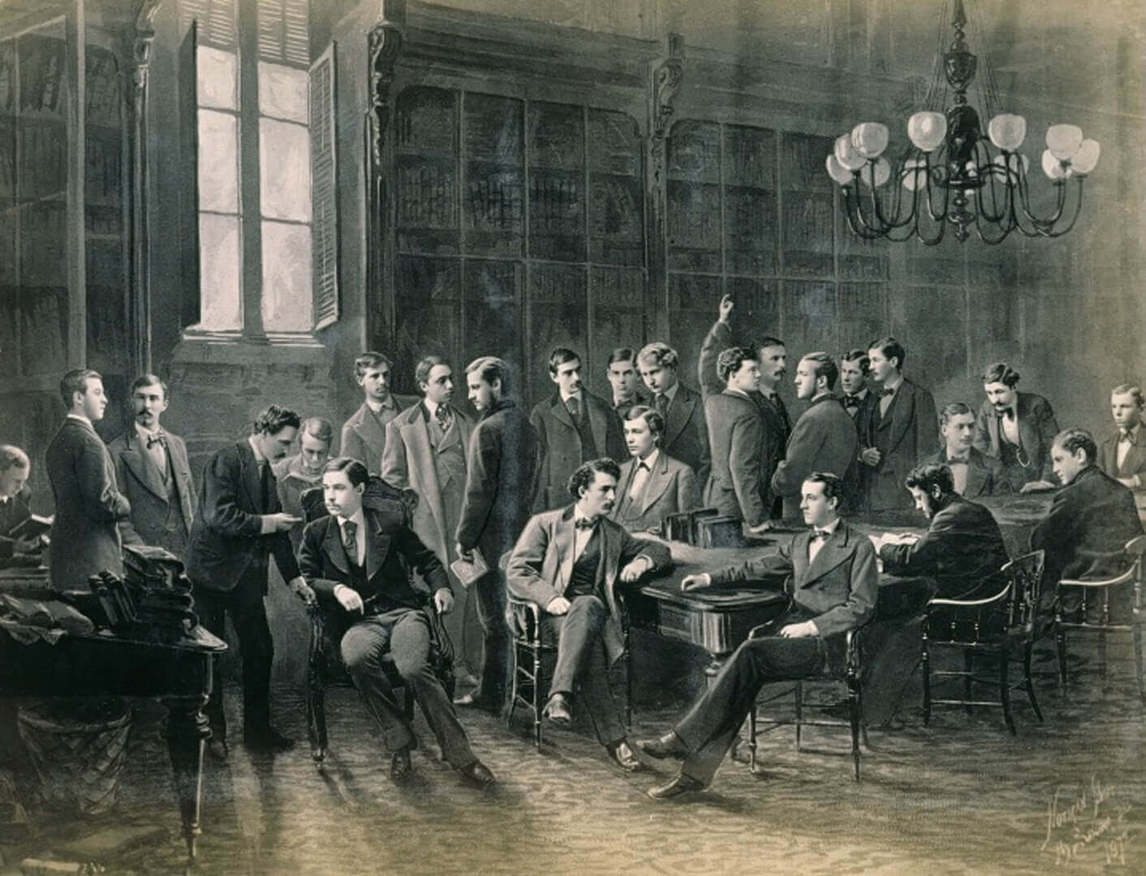 Art Canada Institute, William Notman, Yale College, Sheffield Scientific School Class in Library, 1872