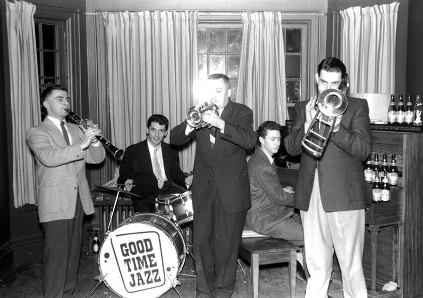 Art Canada Institute, Michael Snow, Ken Dean's jazz band Hot Seven, 1955
