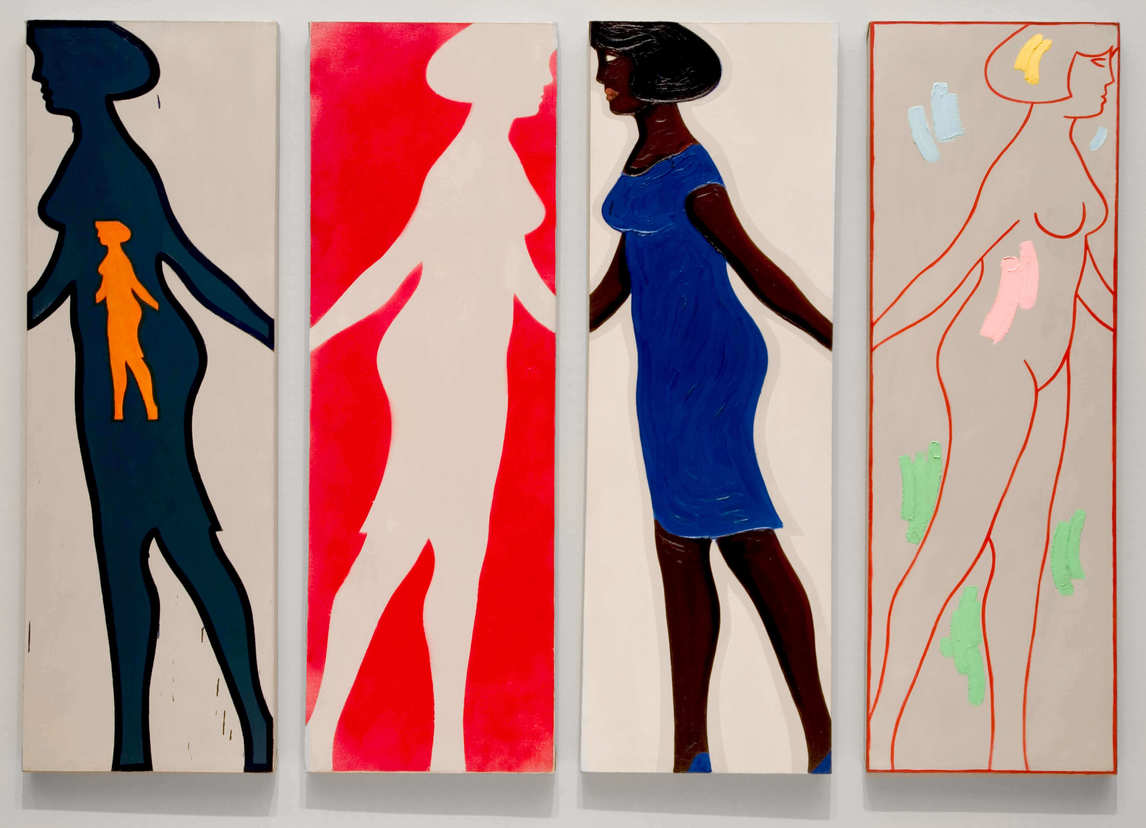 Art Canada Institute, Michael Snow, Four Grey Panels and Four Figures, 1963