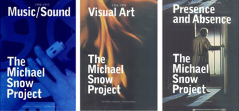 Art Canada Institute, Michael Snow, Three volumes published on the occasion of the >Michael Snow Project 1994-1995