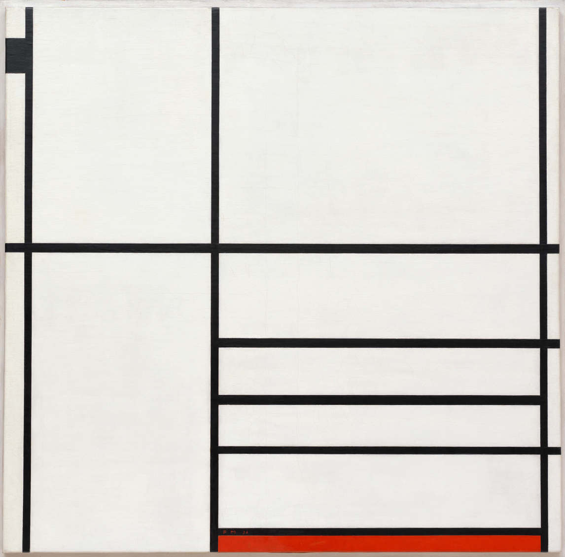 Art Canada Institute, Michael Snow, Piet Modrian, COmposition en blank, noir et rouge, 1936