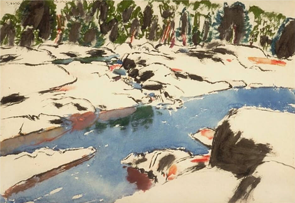 Art Canada Institute, David Milne, The Cross Chute, 1938