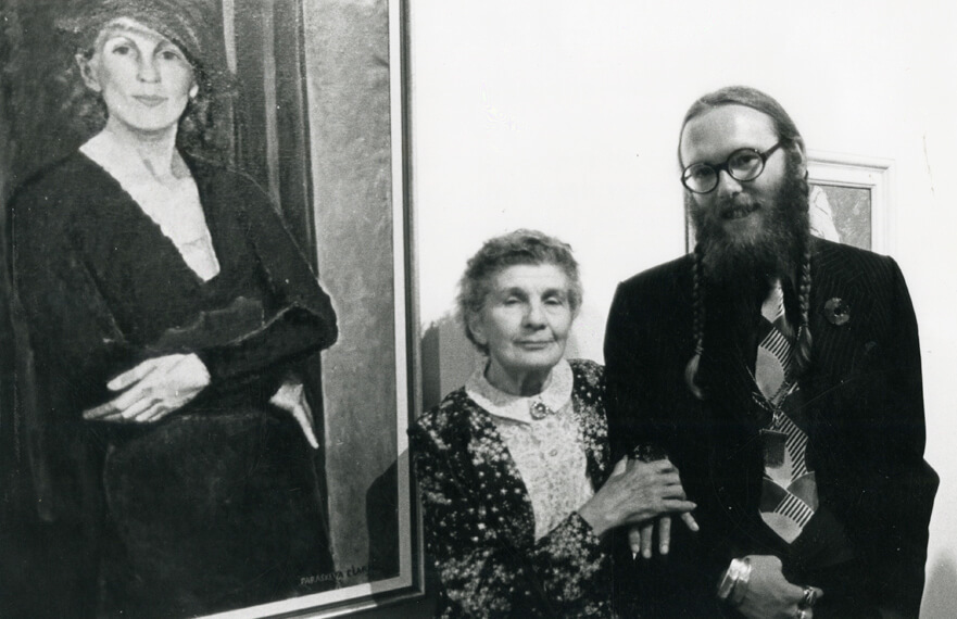 Art Canada Institute, araskeva Clark and Charles C. Hill, at the Canadian Painting in the Thirties opening, 1975.