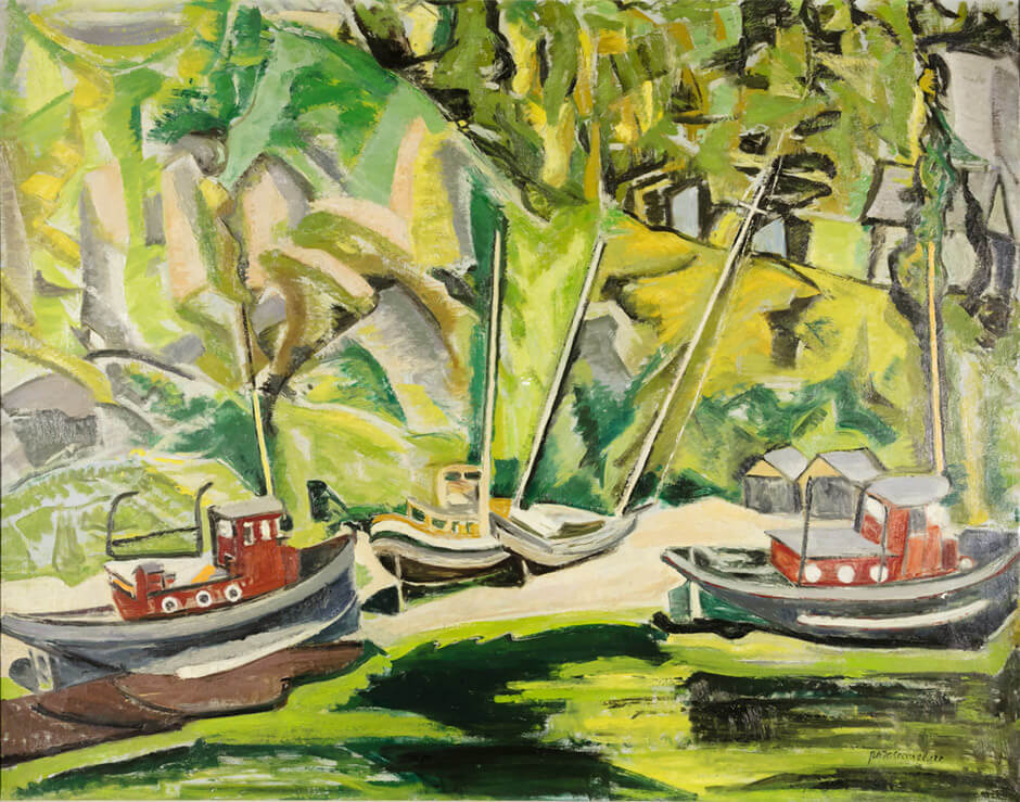 Art Canada Institute, Paraskeva Clark, Boats in Dry Dock, 1946