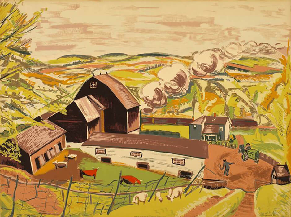 Art Canada Institute, Paraskeva Clark, Caledon Farm in May, 1945