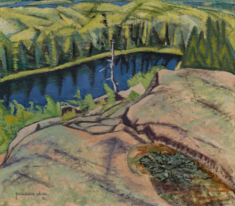 Art Canada Institute, Paraskeva Clark, Landscape with Lake, 1940