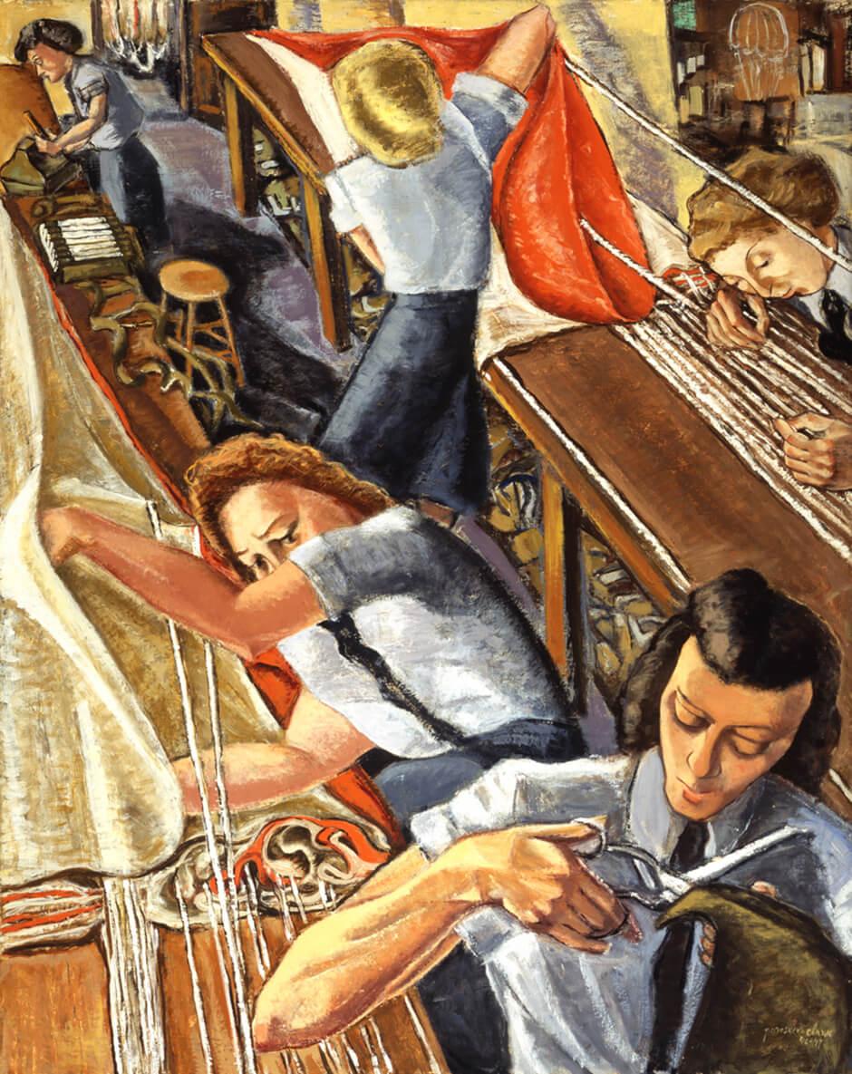 Paraskeva Clark,Parachute Riggers, 1947