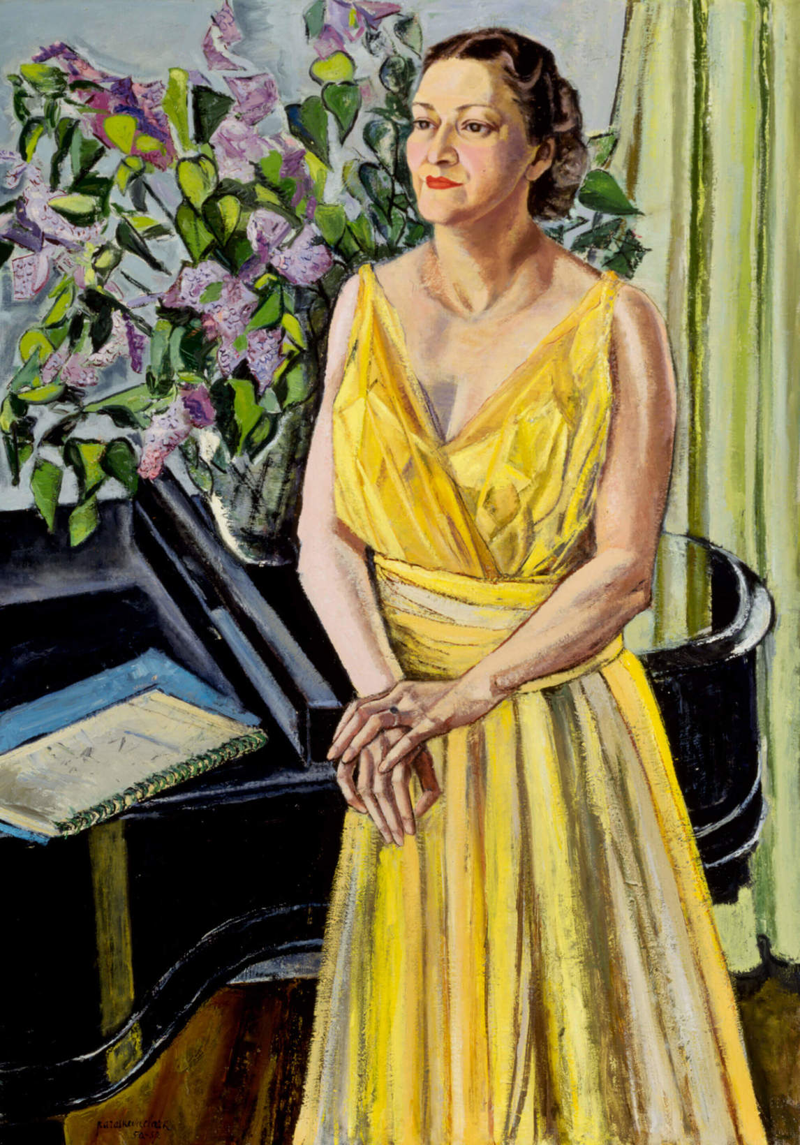 Art Canada Institute, Paraskeva Clark, Portrait of Murray Adaskin, 1944–45