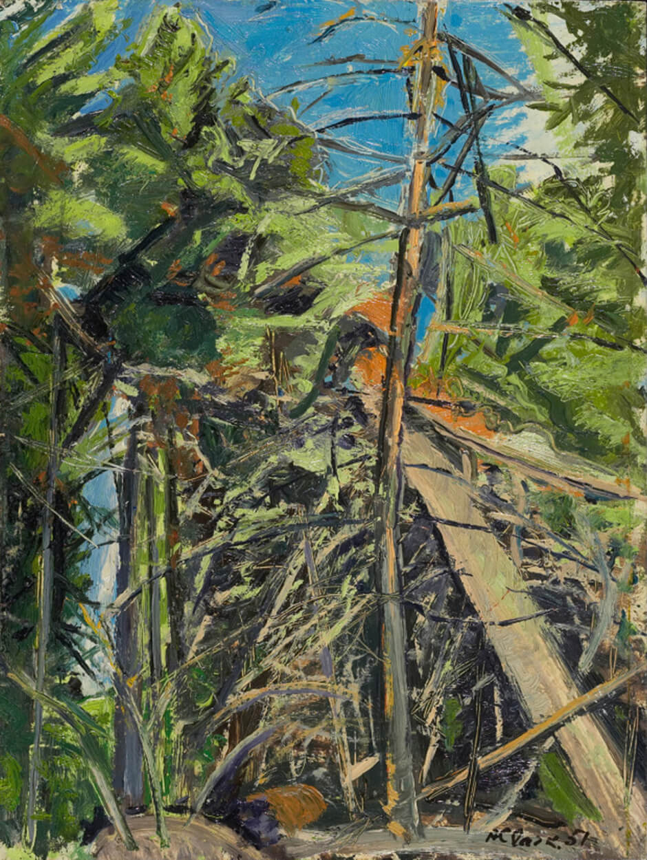 Art Canada Institute, Paraskeva Clark, Sketch for Canoe Lake Woods, 1951