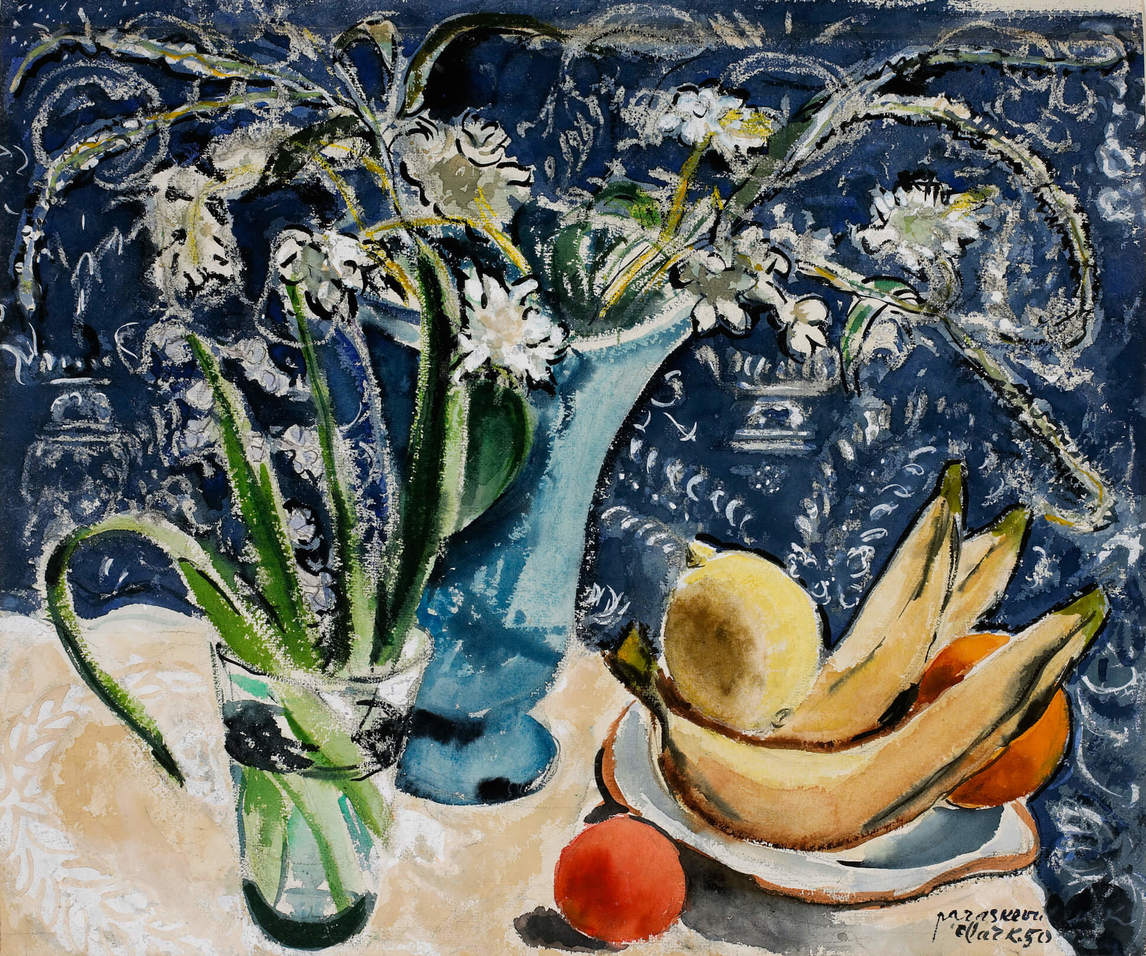Art Canada Institute, Paraskeva Clark, Still-life: Plants and Fruit, 1950