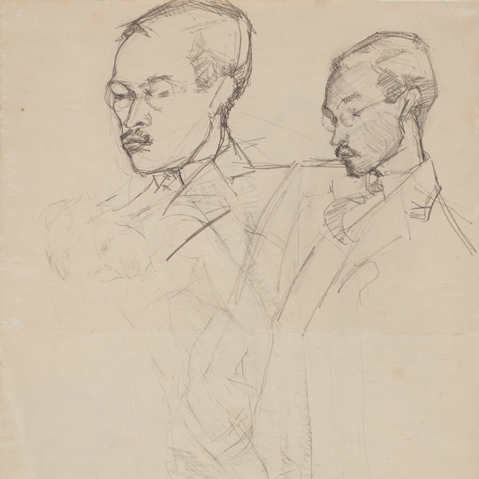 "Art Canada Institute, Paraskeva Clark, Studies of Philip for ""Philip Clark, Esq.,"" c. 1933"