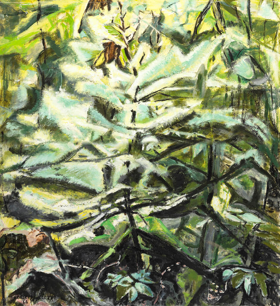 Art Canada Institute, Paraskeva Clark, Sunlight in the Woods, 1966