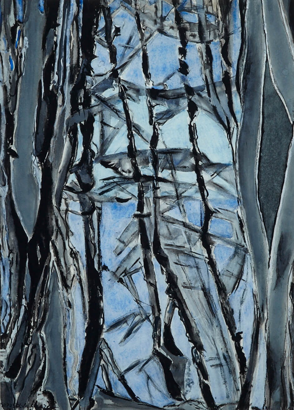 Art Canada Institute, Paraskeva Clark, Woods by the Lake, 1968