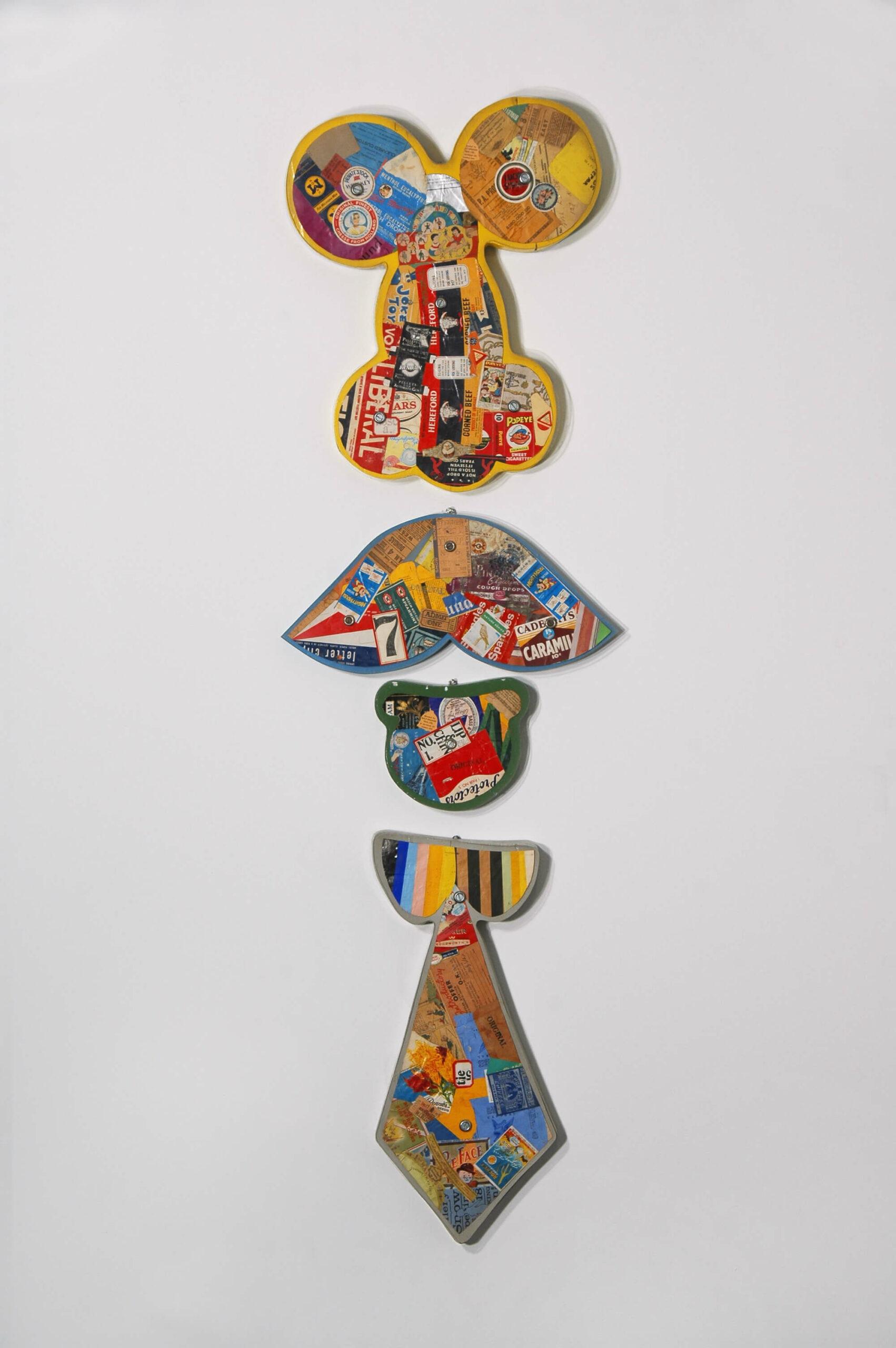 Greg Curnoe,Four Piece Set, 1965–67