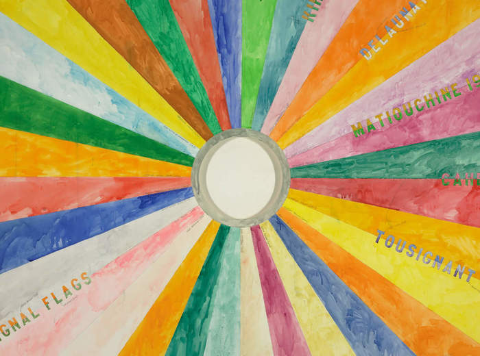 Greg Curnoe,Large Colour Wheel, 1980