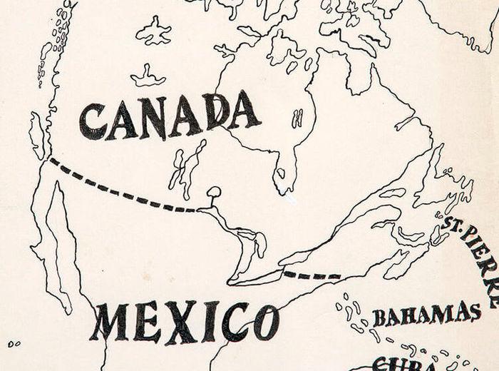 Greg Curnoe,Map of North America, 1972