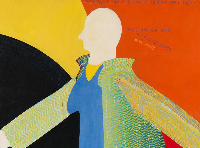 Greg Curnoe,Myself Walking North in the Tweed Coat, 1963
